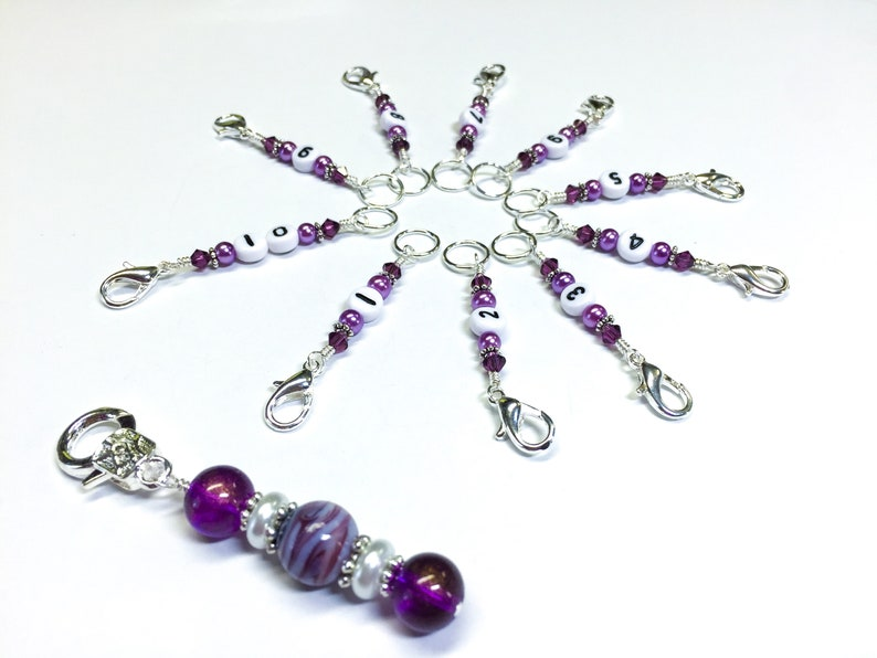 Number Stitch Marker Set For Knitting Or Crochet Row Counter Etsy