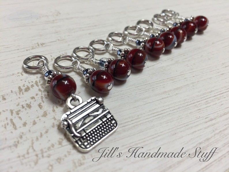 Typewriter Stitch Marker Set for Knitting Gifts for Knitter Coworker Gift Mother/'s Day Gift Snag Free