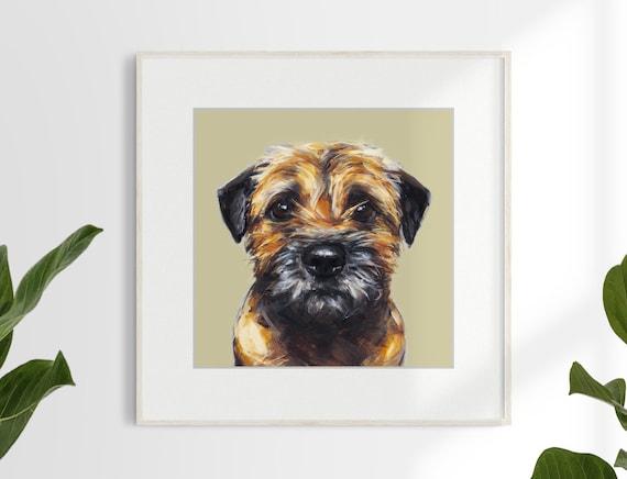 Border Terrier Print Ltd Ed Dog Art Painting Print Etsy