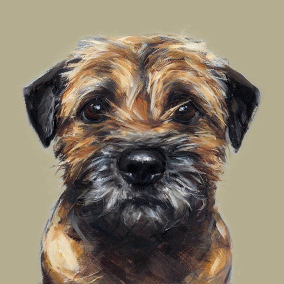 border terrier painting print ltd ed dog art print etsy