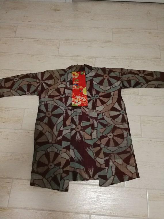 Ohshima Tsumugi (pongee) Vintage Japanese Kimono S