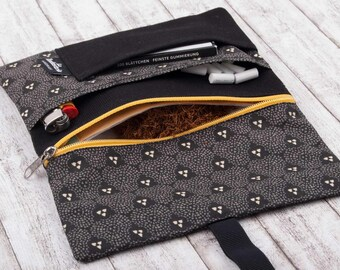 Tobacco Pouch Case with compartments for rolling tobacco bag and accessories - Rolling Tobacco Purse Wallet