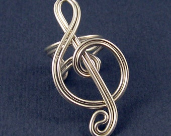 Treble Clef Ear Cuff - You pick the color - Large T.C.
