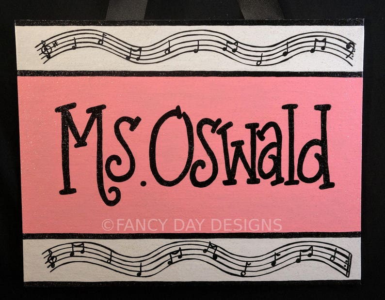 Music Note Themed Teacher Door Sign Music Themed Decorations Etsy