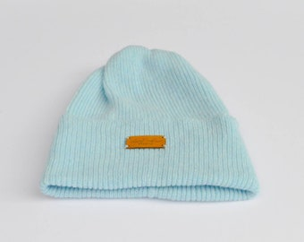 9cefa40f6c1 Iceberg blue ribbed lambswool hat