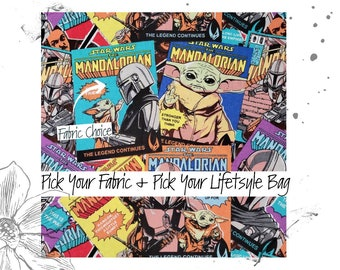 The Force PICK YOUR FABRIC + Pick your Lifestyle Bag. Custom Toiletry, Project and Tote Bags.