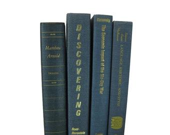 Book Stacks  for Decoration, Academic Decorative Books for Shelf Decor, Mantel Shelf Decoration, Book Bundles, Dark Aesthetic Bookcase