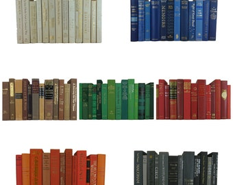 Decorative Books by the Foot, Book Stacks for Bookshelf Decor, Designer Staging Props, Home Office Decor, Wedding  Decorations, Many Colors