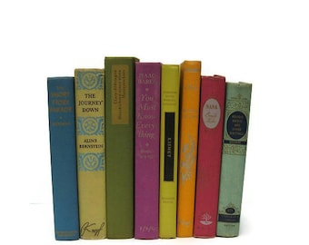 Shabby Chic Vintage Decorative  Books Wedding Decor  Photo Prop