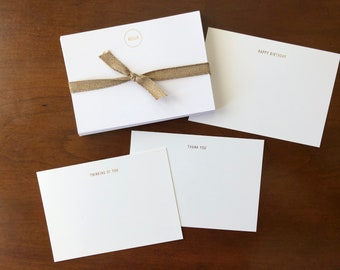 Gold FOIL All Occasion Flat Note Cards