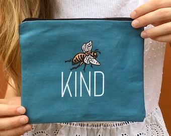 Bee Kind - Zipper Pouch
