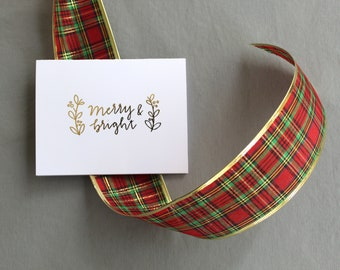Gretchen Carpenter Designs X Tiny Acorns / Gold Foil / Merry & Bright Christmas Card