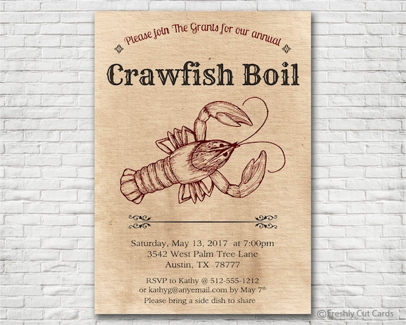 image about Crawfish Boil Invitations Free Printable known as Crawfish Boil Invitation - Printable or Released (w/ Absolutely free