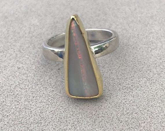 Lighting Ridge opal ring