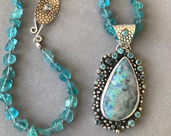 Opal Apatite and London Blue Topaz!
