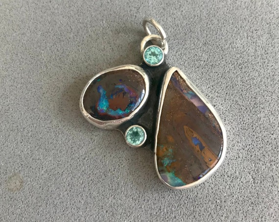 Opal and Apatite pendant