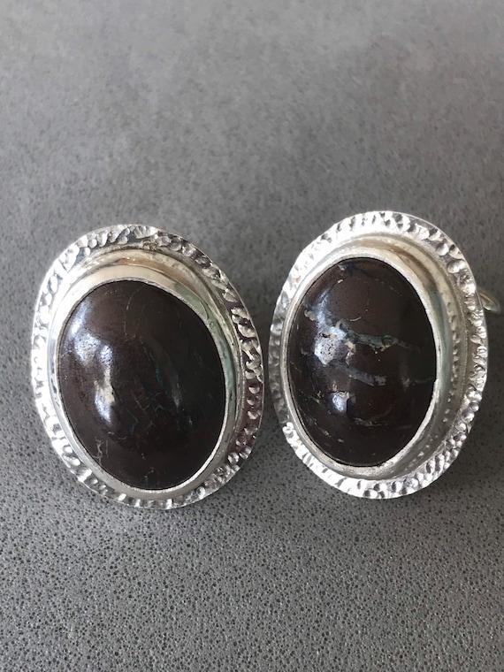 Boulder Opal cuff links