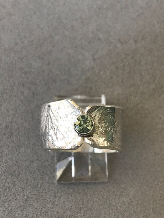 Blue Green Montana sapphire ring