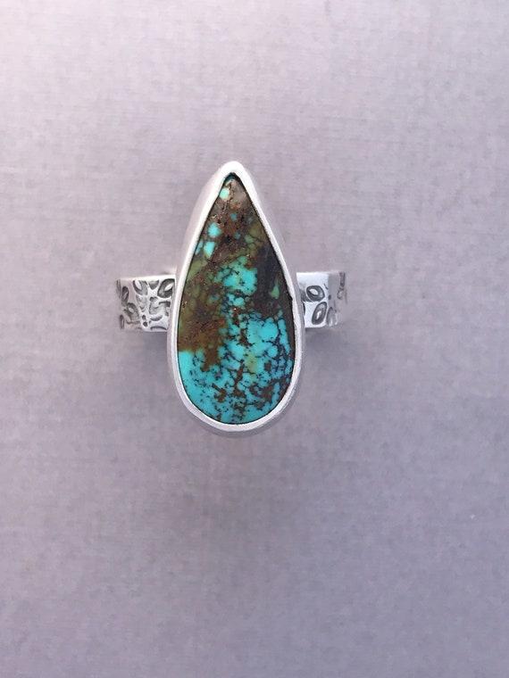 Hubi turquoise ring size 9-1/4