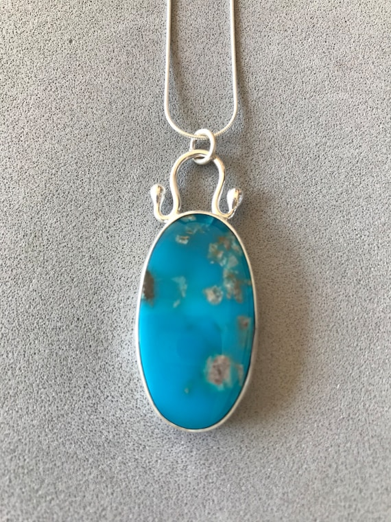 Stabilized Sleeping Beauty Turquoise Pendant