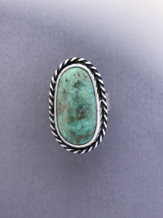 Subtle green turquoise ring