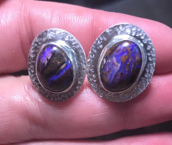 Australian Boulder Opal cuff links