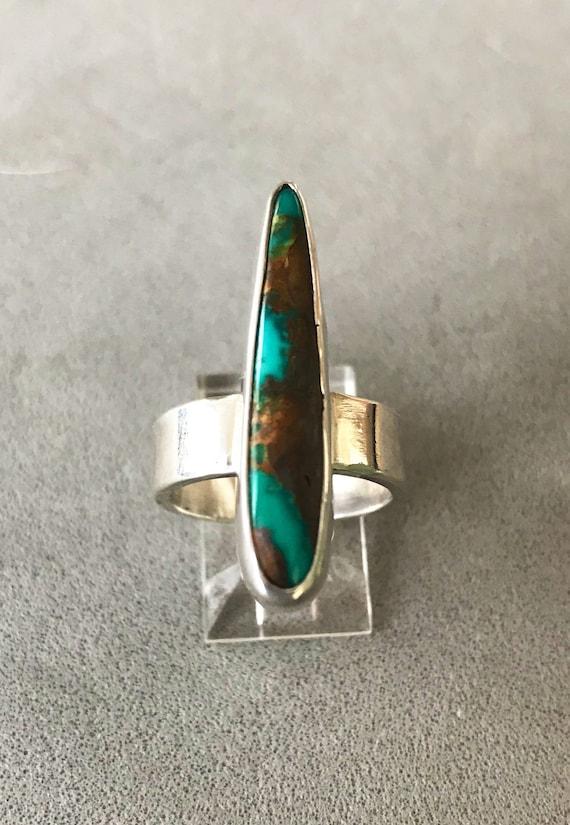 Royston ribbon turquoise talon ring