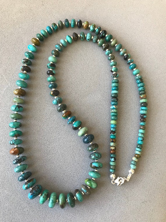 Mexican and Hubi Turquoise Beaded Necklace