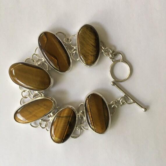 Tiger Eye Bracelet in sterling silver