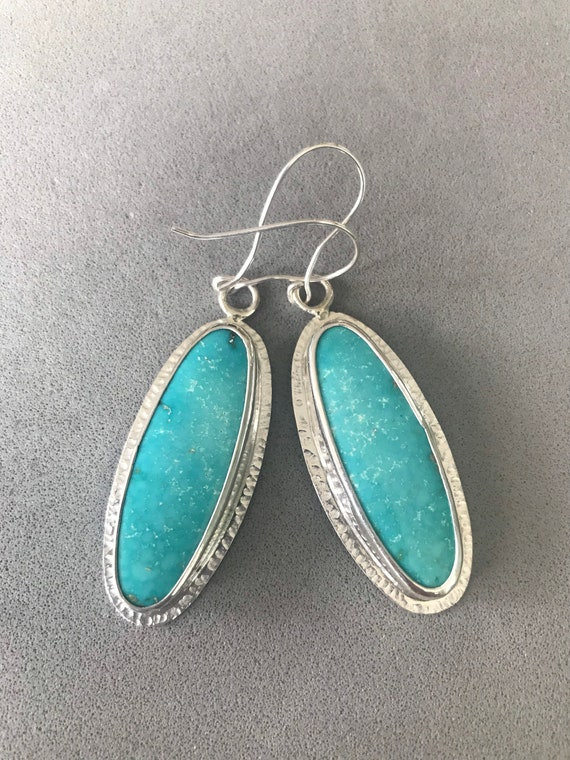 Turquoise in sterling silver earrings