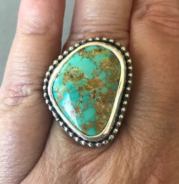 Large Royston turquoise ring