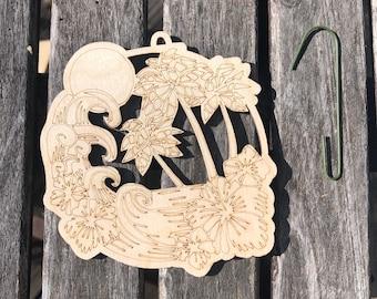 Tiki ornament, wood