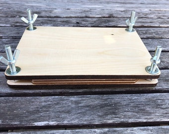 Flower Press, wood, large or small, made in USA