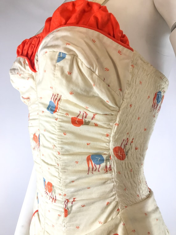 1940s 1-Piece Asian Novelty Play Suit Bathing Sui… - image 4