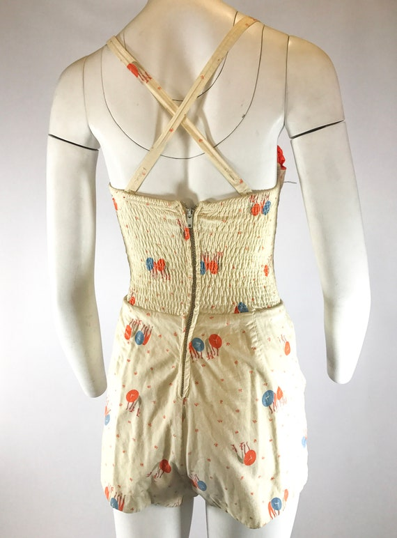1940s 1-Piece Asian Novelty Play Suit Bathing Sui… - image 7
