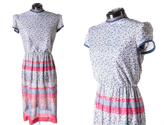 1970s Calico Floral Print Dress, Jerell's Sweethea