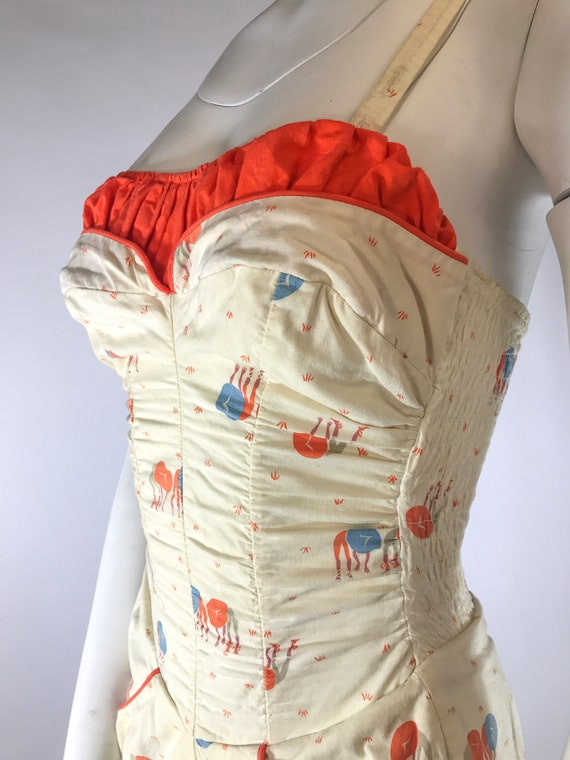 1940s 1-Piece Asian Novelty Play Suit Bathing Sui… - image 3