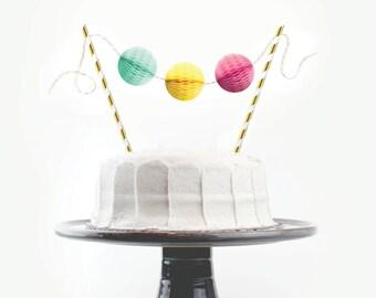 Cake Topper Kit // Birthday Brights // Birthday Cake Topper, First Birthday Cake, 30th Birthday Decoration, Chic Party Decor, Baby Shower