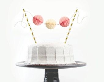 Cake Topper Kit // Pink & Buttercream // Birthday Cake Topper, First Birthday Cake, Bridal Shower, Baby Girl Shower, Wedding Cake Topper