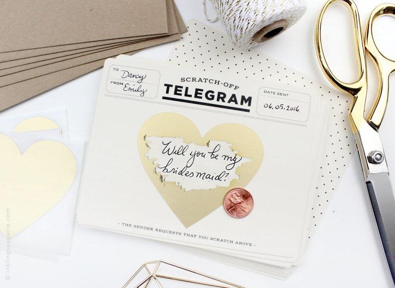 Scratch-off Telegram // Classic Cream & Black //Write in card image 0