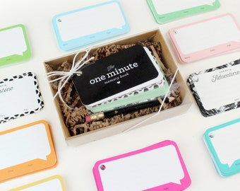 The One Minute Memory Book™ // 12 Expander Cards // baby album, quote journal, new parents gift, baby book, baby sprinkle gift, memories