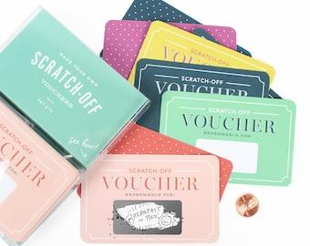Scratch-off Vouchers // DIY Valentines, unique valentines, love coupons, kids valentine, cool valentine, IOU