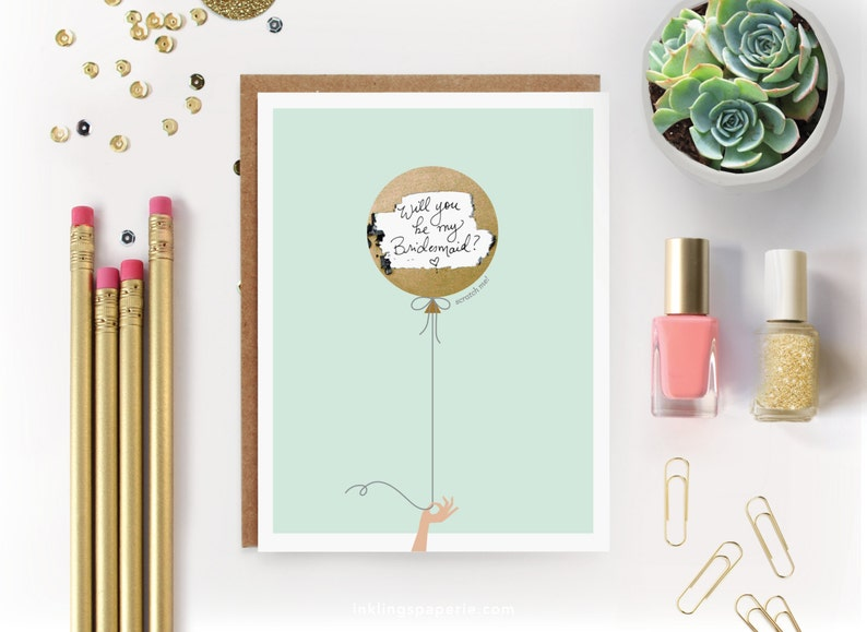 Scratch-off Be My Bridesmaid Card // Ask image 0