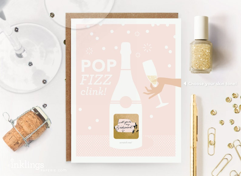 6 Scratch-off Pop Fizz Clink Will You Be My image 0