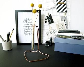 Cubicle gift, bud vase, entryway vase, desktop gift her, gift ideas for desk, modern vase gift, vase desk decor, desk decor for her