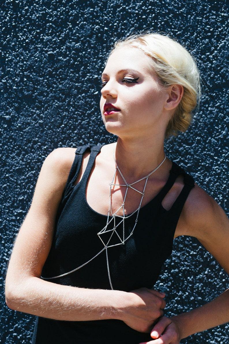 Bralette chain bra bralette jewelry chain bralettes jewelry image 1