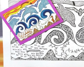 25 Scenic World Colouring Pages Postcards Coloring Book For Adults Printable Version