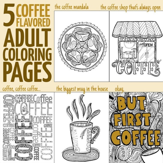 Coffee Coloring Pages | Free adult coloring pages, Adult coloring ... | 570x570