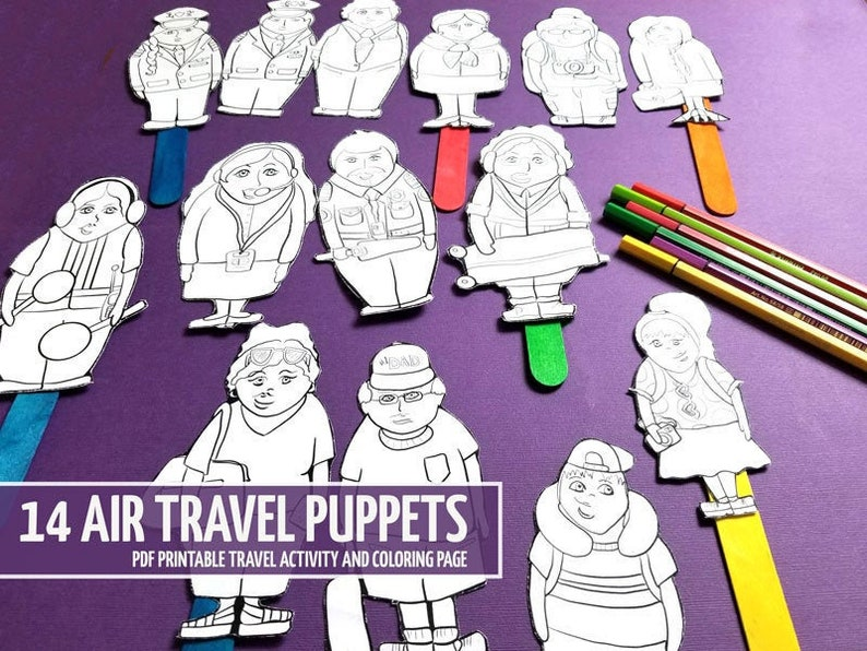 Travel Activities for Kids and Toddlers  Plane Puppets  Full image 0