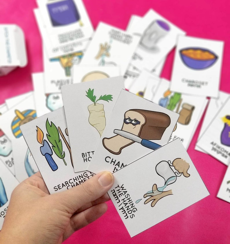 Passover Game for Kids  Printable PDF Old Maid and Memory image 0